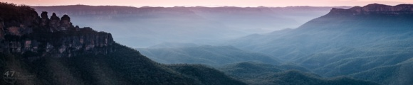 Blue Mountains before sunrise
