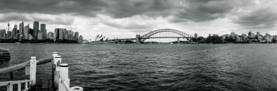 Panorama taken from Fort Denison