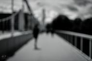 Walking over Chelsea Bridge