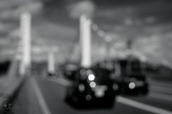 Black Cab on Chelsea Bridge